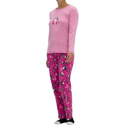 Womens Party Penguin Pajama Set