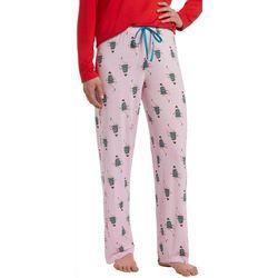 Hue Womens Holiday Glamour Print Pajama Pants