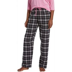 Hue Womens Sparkle Plaid Print Pajama Pants