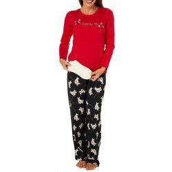 Hue Womens Light Me Up Folded Pajama Set