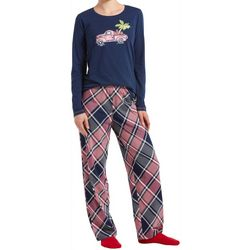Hue Womens Christmas Truck Folded Pajama Set