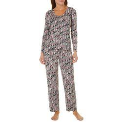Hue Womens Champagne Pop Pajama Pants Set