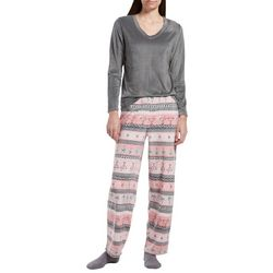 Hue Womens Tropical Holiday Pajamas & Socks Set