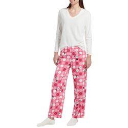 Hue Womens Snowman Pajama Pants Set