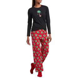 Hue Womens Candy Palm Pajamas & Socks Set