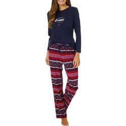 Nautica Womens 2-pc. Let Your Dreams Set Sail Pajama Set