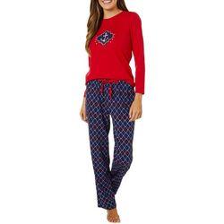 Nautica Womens 2-pc. Peace Love Nautica Pajama Set