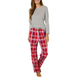 Nautica Womens 2-pc. Plaid Print Pajama Pants Set