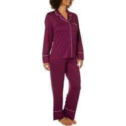 Jones New York Womens Brushed Jersey Solid Pajama