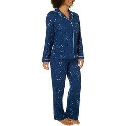Jones New York Womens Jersey Star Print Pajama Set