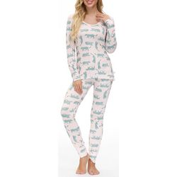 Echo Womens Leopard Print Pajama Pants Set