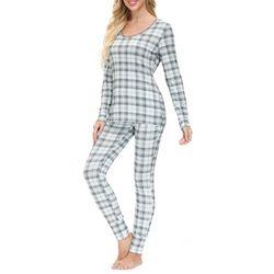 Echo Womens Plaid Print Pajama Pants Set