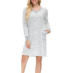 Echo Womens Zebra Print Nightgown