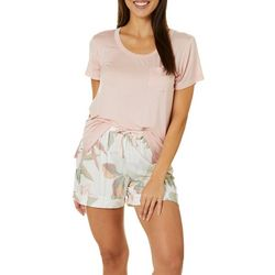 Womens Bora Bora Print Pajama Shorts Set