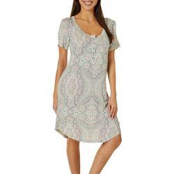 Echo Womens Paisley Henley Nightgown