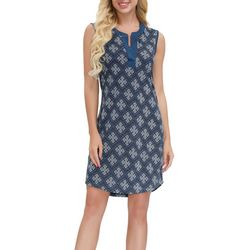 Ink + Ivy Womens Tile Printed Tunic Nightgown