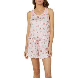 Echo Womens Foxy Ruffled Pajama Shorts Set
