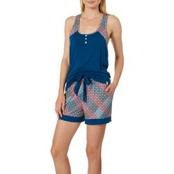 Echo Womens Foulard Pajama Shorts Set