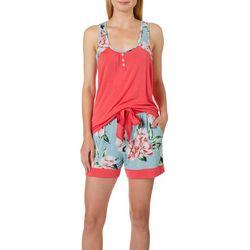 Echo Womens Logan Chambray Pajama Short Set
