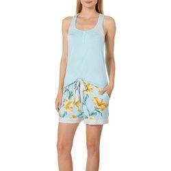 Echo Womens Hibiscus Garden Pajama Shorts Set
