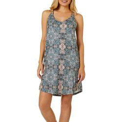 Ink + Ivy Womens Floral Medallion High Back Nightgown