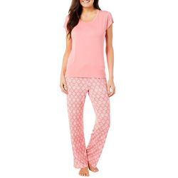 Echo Womens Diamond Pajama Pants Set