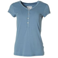 Echo Sleepwear Womens Solid Short Sleeve Top