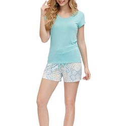 Echo Womens 2-Pc. Paisley Print Pajama Shorts Set