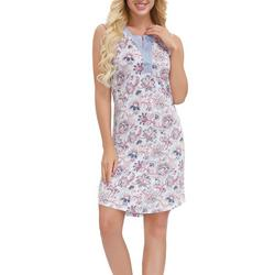 Womens Paisley Floral Printed Tunic Nightgown