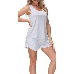 Echo Womens 2-Pc. Monaco Pajama Shorts & Pocket Tank Set