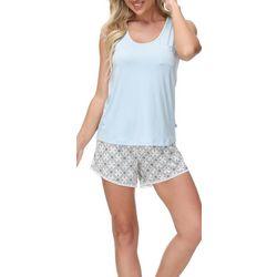 Echo Womens 2-Pc. Seville Pajama Shorts & Pocket Tank Set