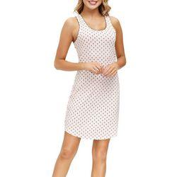 Ink + Ivy Womens Polka Dot Print Sleeveless Nightgown