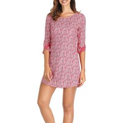 Ink + Ivy Womens Tulip Cuffed Nightgown
