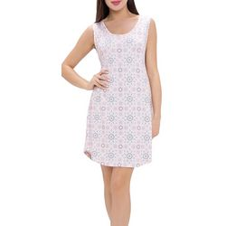 Ink + Ivy Womens Medallion Print Chemise Nightgown