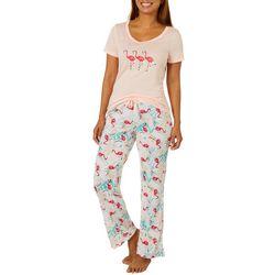 Ink + Ivy Womens Tropical Flamingo Pajama Pants Set