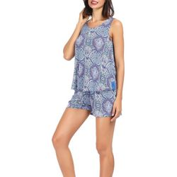 Ink + Ivy Womens Paisley Tank Pajama Shorts Set