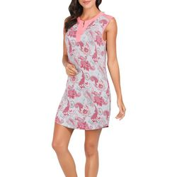 Ink + Ivy Womens Floral Paisley Sleeveless Nightgown