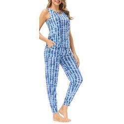 Ink + Ivy Womens Tie-Dye Print Jogger Pajama