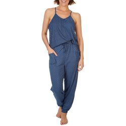 Echo Womens Filigree Print Jogger Pajama Jumpsuit