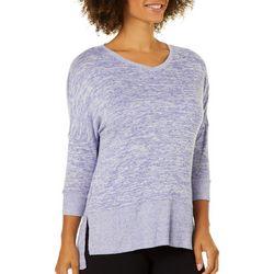COOL GIRL Womens Space Dye Terry Sweater Pajama Top