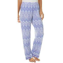 COOL GIRL Womens Complex Geometric Print Pajama Pants