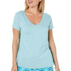 Womens Solid V-Neck T-Shirt