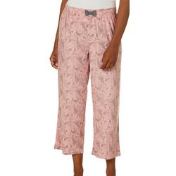 COOL GIRL Womens Dream Knit Paisley Pajama Capris
