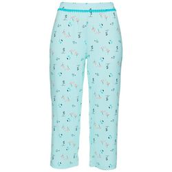 COOL GIRL Womens Flamingo Island Print Pajama Capris