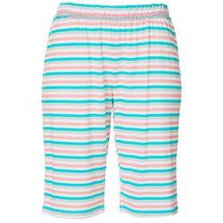 COOL GIRL Womens Stripe Print Pajama Bermuda Shorts