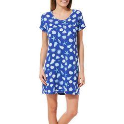 COOL GIRL Womens Sea Shell T-Shirt Nightgown