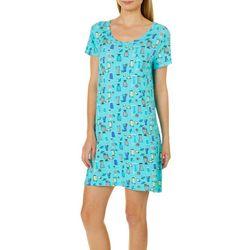 COOL GIRL Womens Drinks Short Sleeve T-Shirt Nightgown