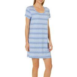 COOL GIRL Womens Diamond Short Sleeve T-Shirt Nightgown