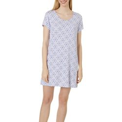 Womens Medallion Print Pocket T-Shirt Nightgown