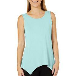 COOL GIRL Womens Solid Asymmetrical Sleeveless Pajama Top